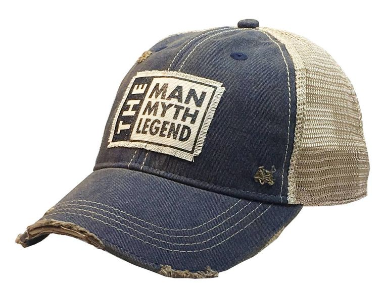 The Man The Myth The Legend Distressed Trucker Cap