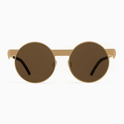 #2.1 Round Gold Sunglasses The No. 2 Eyewear