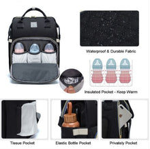 Load image into Gallery viewer, Ultimate Parent Survival Bag-Quilted Black
