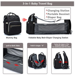 Ultimate Parent Survival Bag-Quilted Black