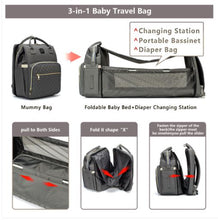 Load image into Gallery viewer, Ultimate Parent Survival Bag-Quilted Dark Gray