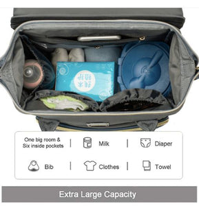 Ultimate Parent Survival Bag-Quilted Dark Gray