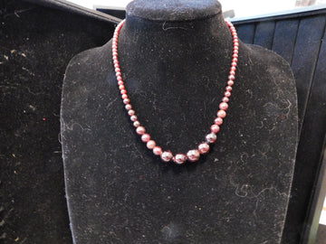 Garnet Bead Necklace