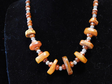 Baltic Amber with Italian Glass Necklace