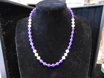Amethyst with Fresh Water Pearl Necklace