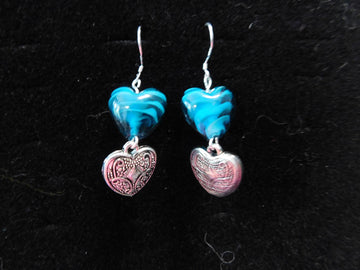 Blue Italian Murano glass Earrings