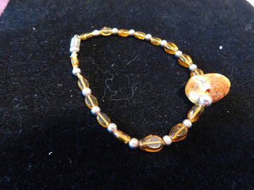 Baltic Amber with Citrine Bracelet