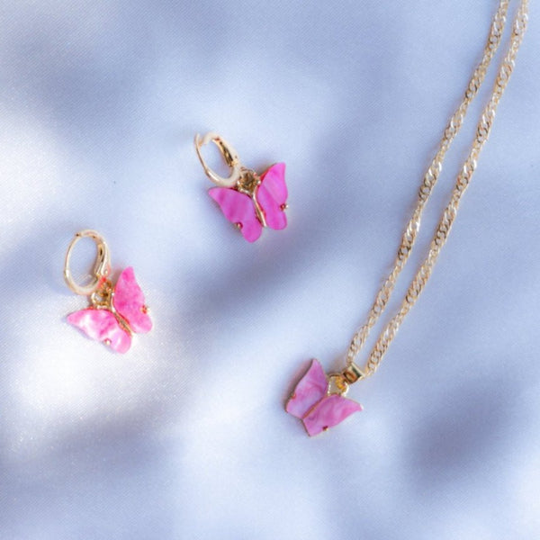Orchid Pink Butterfly Set