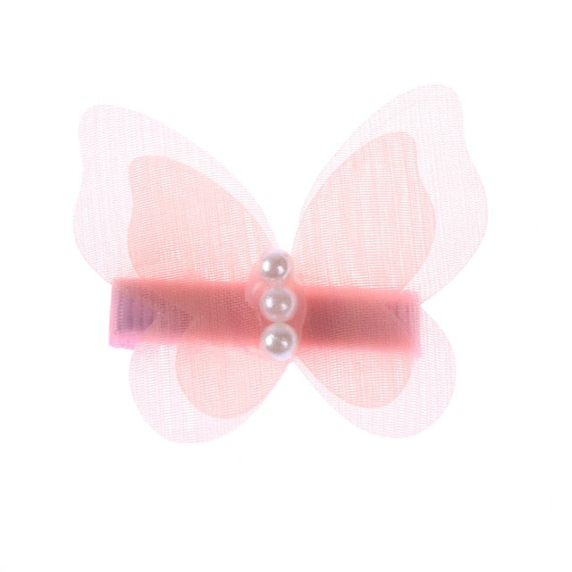 Acetate Resin Hair Claw Sweet Fairy Butterfly Hairpin Clip Gradient Tie-Dye Colored Styling Tools Barrettes for Women Girls