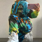 Tie Die Butterfly Loungewear - Two Piece Set (Sweatpants & Hoodie)