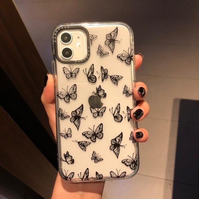 Stencil Butterfly iPhone Case