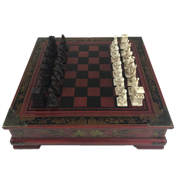 Chinese Vintage Chess Cabinet