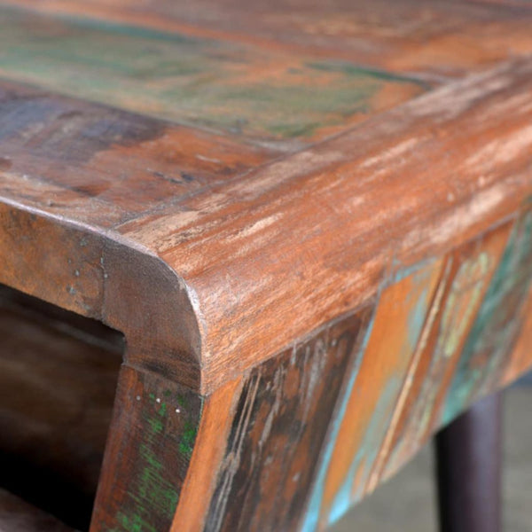 Reclaimed Wood Vintage Modern Desk With Iron Legs