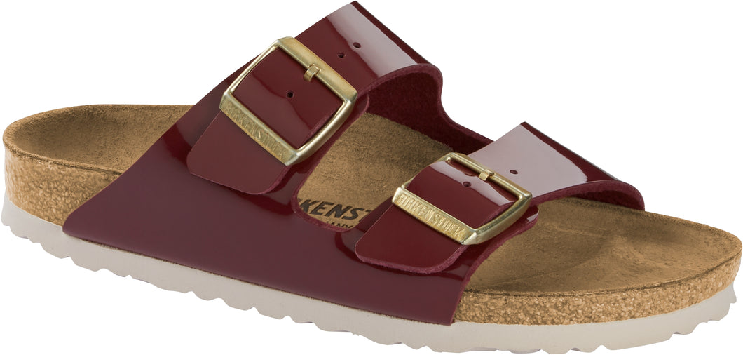 BIRKENSTOCK Arizona Patent Bordeaux BF Slides