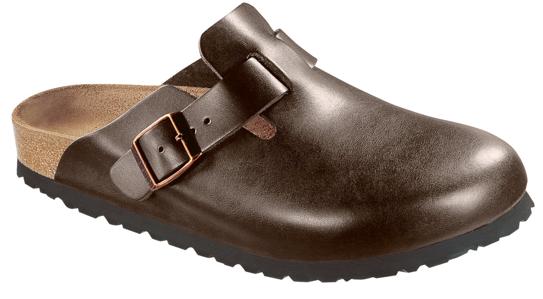 BIRKENSTOCK Boston Leather Softbed Dark Brown