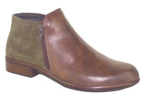 NAOT Helm Ankle Boot Pecan/Olive Combo Leather