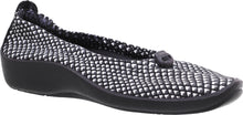 Load image into Gallery viewer, ARCOPEDICO L14 Ballet Flat Black/White Diamond