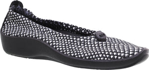 ARCOPEDICO L14 Ballet Flat Black/White Diamond