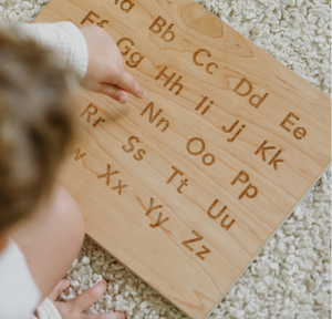Wooden Alphabet Board + Stand