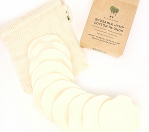 Reusable Round Hemp Cotton Pads