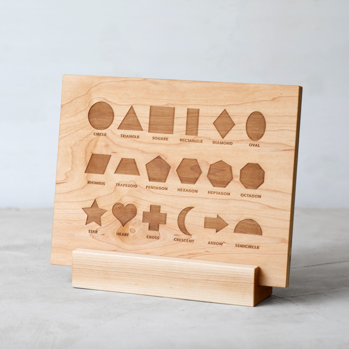 Wooden Shapes Board + Pieces