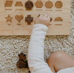 Load image into Gallery viewer, Wooden Shapes Board + Pieces