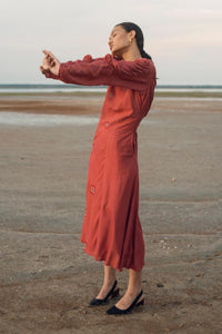 Prairie Sand Cotton Silk Dress