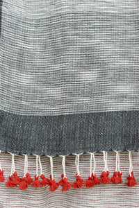 Natural Grey Organic Scarf