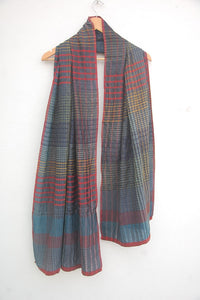 Mulberry Silk & Cotton Multi-coloured Scarf