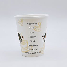 10oz Eco-friendly White Round Hot Paper Cup | Enjoy Your Coffee - 1000 Pcs
