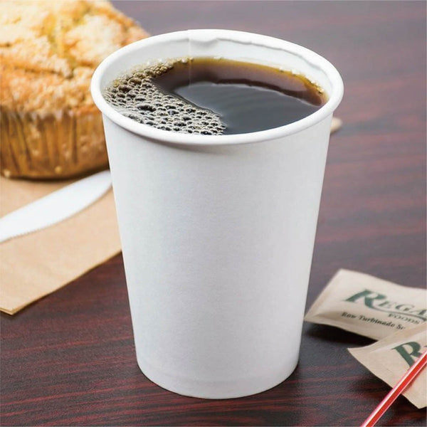 12oz Eco-friendly White Round Hot Paper Cup - 1000 Pcs - HD Plastic Product (Canada). Inc