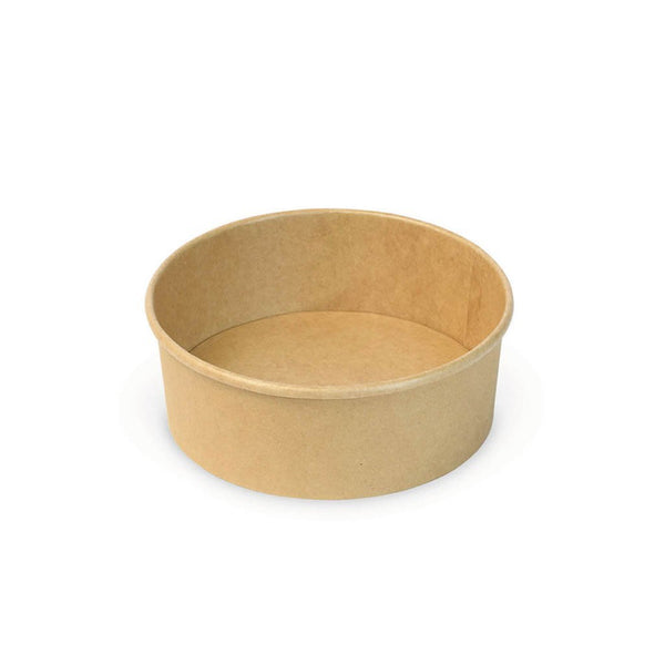 #750B | 26oz Eco-friendly Kraft Round Paper Bowl (Base Only) - 300 Pcs - HD Plastic Product (Canada). Inc