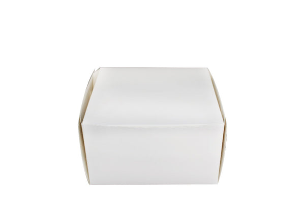 Eco-Friendly White Square Cake Paper Box | 10.25x10.25x5