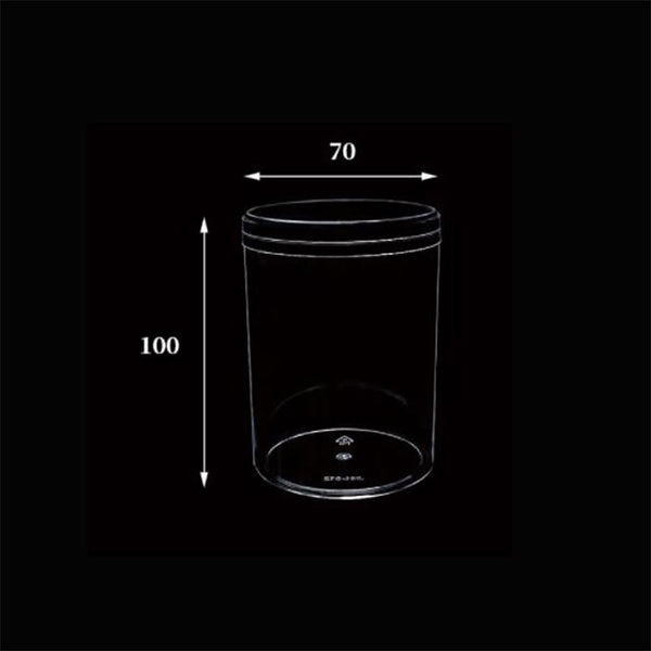 Sample | #012 | 9oz Cylindrical Hard Clear Plastic Cake Container W/ Lid | Φ7x9.5cm - 1 Set - HD Plastic Product (Canada). Inc