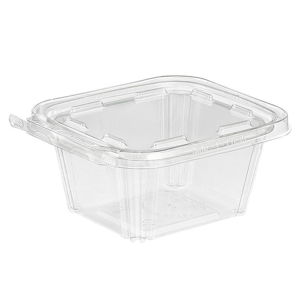 Sample | TS16 | 16oz PET Clear Rectangular Hinged Safe-T-Fresh Salad Container - 1 Set - HD Plastic Product (Canada). Inc