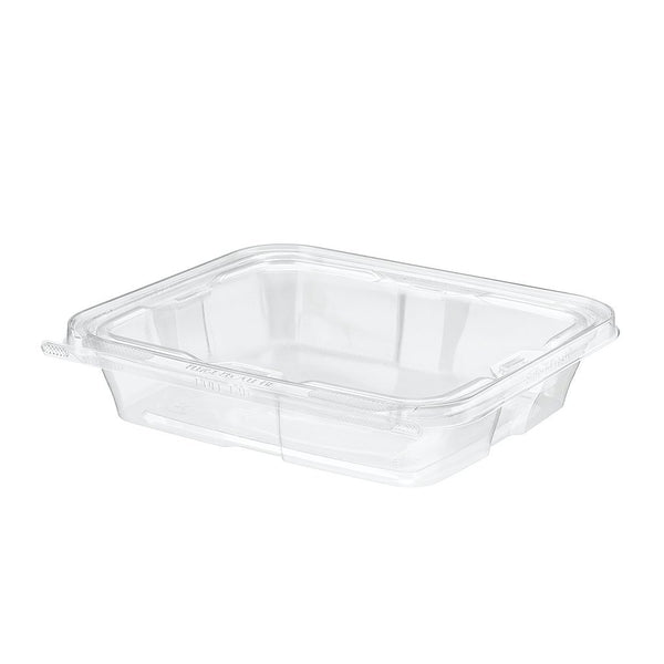 TS35 | 35oz PET Clear Rectangular Hinged Safe-T-Fresh Salad Container - 100 Sets - HD Plastic Product (Canada). Inc