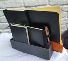 Load image into Gallery viewer, Journal/ Notebook Stand and Holder with Pen Slots