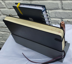 Journal/ Notebook Stand and Holder with Pen Slots