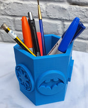 Load image into Gallery viewer, Hexagonal Stationery Holder with Star Wars and Superhero Logos