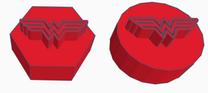 Wonder Woman Logo Game Counter