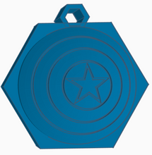 Load image into Gallery viewer, Captain America Shield Keychain