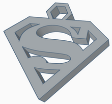 Load image into Gallery viewer, Superman Logo Keychain