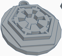 Load image into Gallery viewer, Galactic Empire Logo Keychain