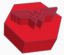 Load image into Gallery viewer, Wonder Woman Logo Game Counter