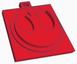 Rebel Alliance Logo Keychain