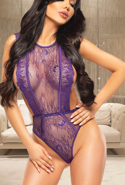 sexy purple lingerie