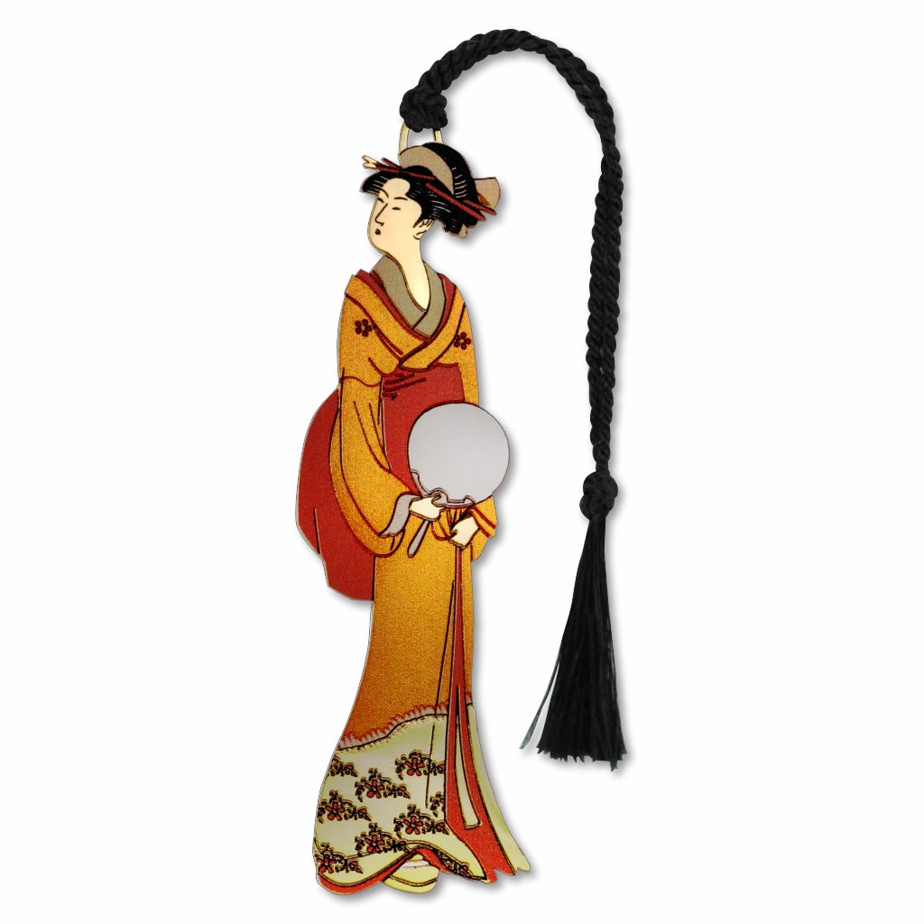 geisha-with-fan-bookmark-photo
