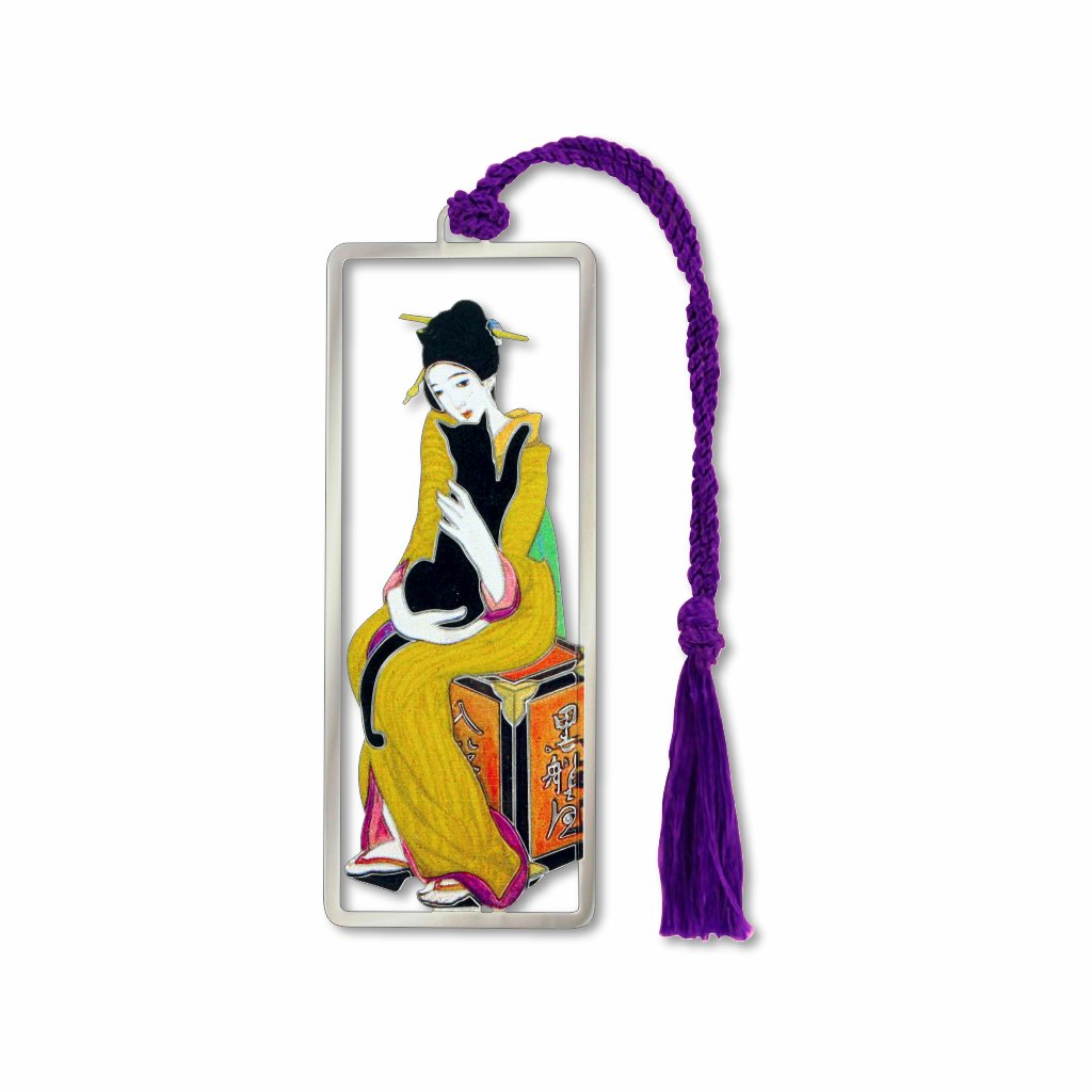 the-geisha-&-the-black-cat-bookmark-photo