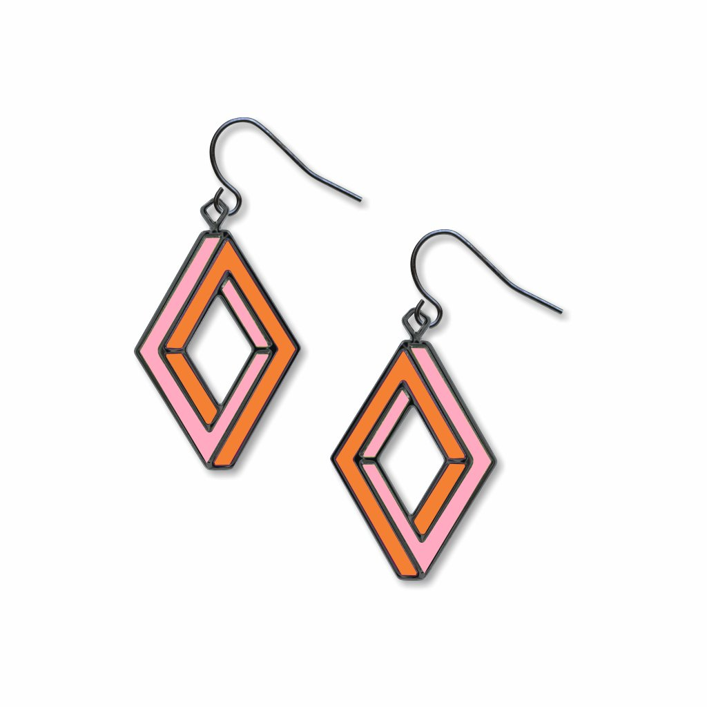 op-art-penrose-rectangle-orange-accents-giclee-print-earrings-photo