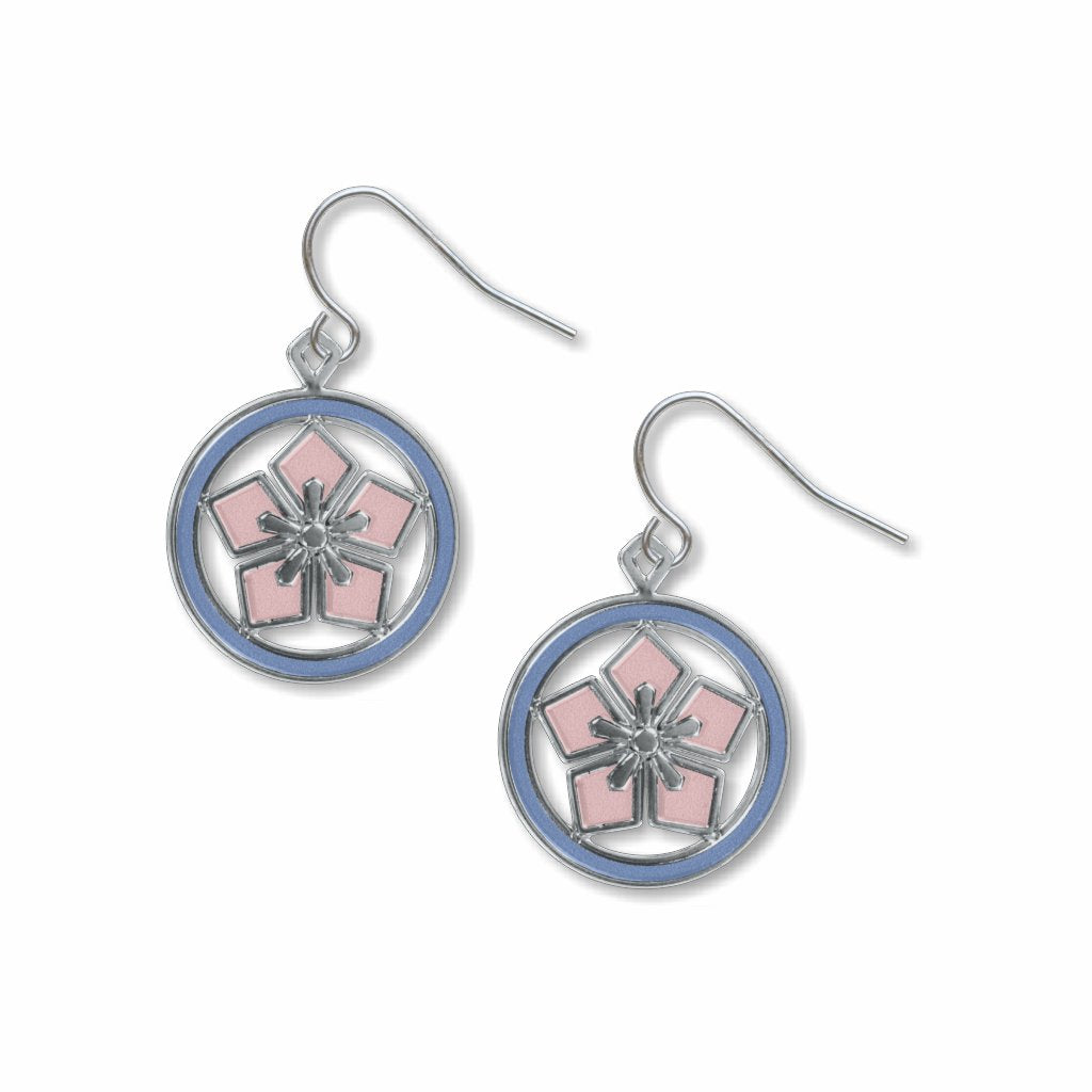 cherry-blossom-kawara-sky-blue-accents-giclee-print-earrings-photo